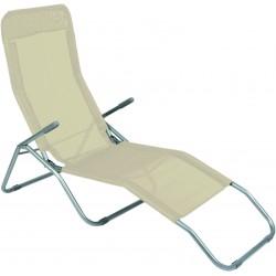 Leżak ogrodwo plażowy SIESTA - aGa MC372171BG Beige
