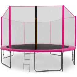 Trampolina ogrodowa aGa SPORT PRO 430 cm (14 ft) 2018 Pink + DRABINKA + TORBA NA BUTY