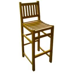 Krzesło barowe ogrdowe hoker z drewna tekowego - NC88