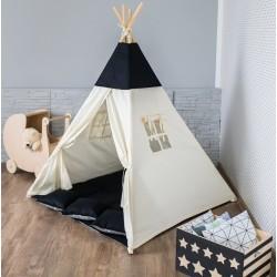 Namiot dziecięcy indiańskie TIPI WIGWAM - black