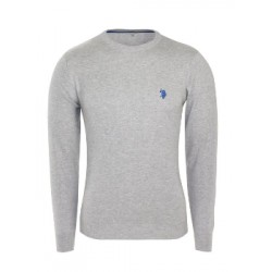 U.S. Polo ASSN. Sweter ROUND-NECK Grey