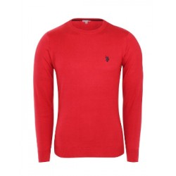U.S. Polo ASSN. Sweter ROUND-NECK Red