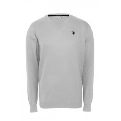 U.S. Polo ASSN. Sweter V-NECK Grey