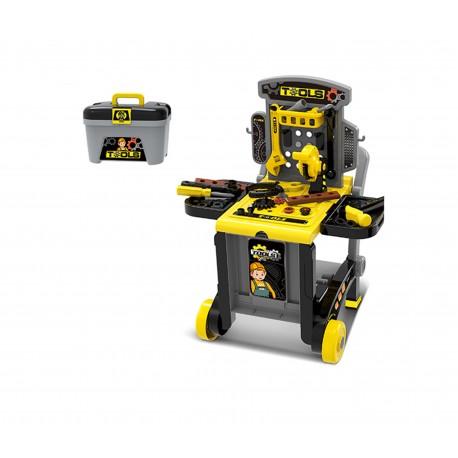 Mały majsterkowicz - warsztat walizka z narzędziami HM850907