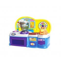 Kuchnia plastikowa interaktywna HAPPY COOKING Blue HM841840